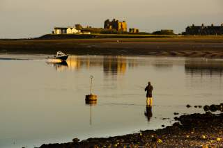 Lone Angler and Piel Island